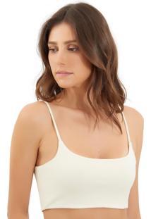 Top Le Lis Blanc Monaco Iii Malha Off White Feminino (Off White, Gg)