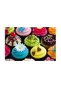Painel Adesivo De Parede - Cupcakes - Confeitaria - 1169Pnp