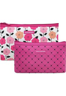 Kit De Nécessaires- Pink & Branco- 2Pçs- Jacki Djacki Design