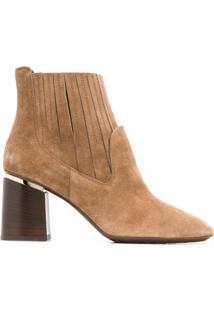 Tod'S Ankle Boot De Camurça - Neutro