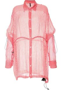 Unravel Project Camisa Listrada - Rosa