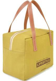 "Bolsa Térmica ""Lifestyle""- Amarelo Escuro & Marrom Claroboxmania"