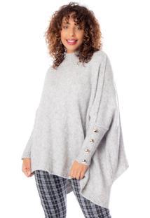 Blusa Feminina Biamar Oversized Cinza - U