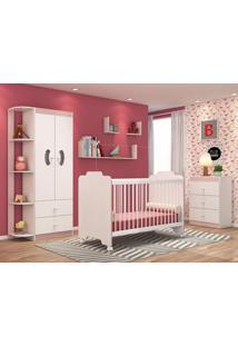 Dormitório Infantil Ternura Branco/Rose - Lc Móveis