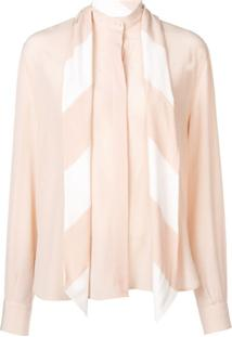 Givenchy Blusa De Seda - Neutro