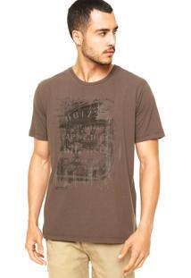 Camiseta Vila Romana Vintage Marrom