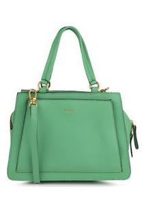 Bolsa Shoulder Bag Couro Estruturada Verde Folha - Verde Folha/Un