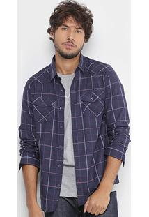 Camisa Xadrez Calvin Klein Slim Fit Masculina - Masculino