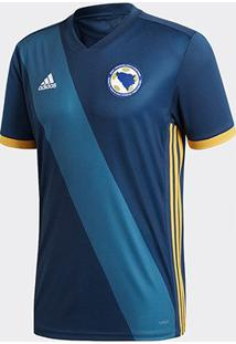 Camisa Seleção Bósnia Home 17/18 S/N° Torcedor Adidas Masculina - Masculino