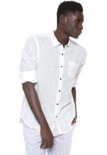 Camisa Hering Reta Bolso Branca