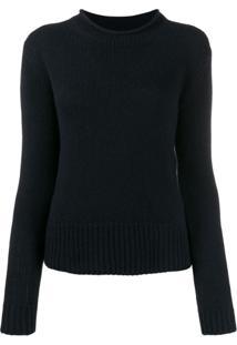 Ralph Lauren Collection Suéter Slim Com Mangas Longas - Azul