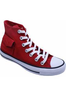 Tênis Converse All Star Chuck Taylor Pocket Hi Vermelho Ct13120002 - Kanui