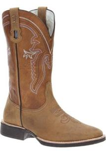 Bota Couro Cowboy Via Boots Masculina - Masculino-Marrom Claro