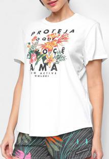 Camiseta Colcci Floral