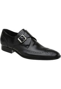 Sapato Monk Oxford Masculino Malbork Em Couro 60053 - Masculino