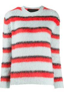 Marc Jacobs Striped Crewneck Sweater - Azul