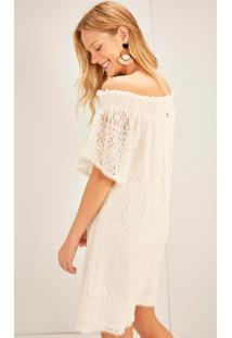 Vestido Ciganinha Curto Renda Branco