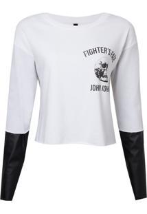 Camiseta John John Fate Feminina (Off White, Pp)