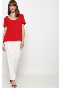 Blusa Lisa Com Vazado- Vermelhahering