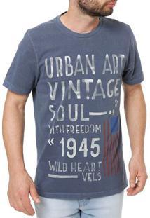 Camiseta Manga Curta Masculina Vels Azul Marinho