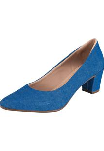 Scarpin Domidona Fashion Azul - Azul - Feminino - Sintã©Tico - Dafiti