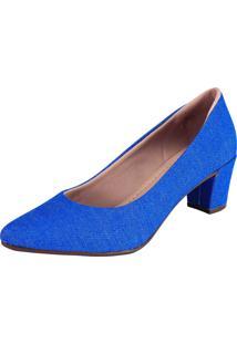 Scarpin Domidona Fashion Azul - Azul - Feminino - Dafiti
