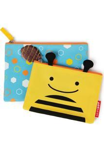 Kit Necessaire Zoo Abelha Skip Hop Amarelo