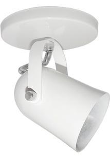 Spot De Sobrepor Em Alumínio Para 1 Lâmpada 60W 110V Branco