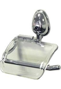 Porta Papel Higiênico Cromado Bonno Cristal Aquaplás