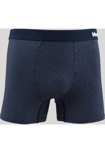 Cueca Boxer Mash Estampada Listrada Azul Marinho