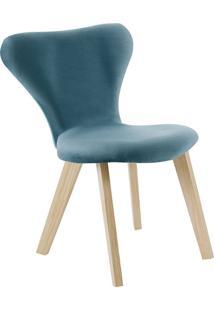 Cadeira Açaí F45-3 Veludo – Daf Mobiliário - Azul
