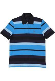 Camisa Polo Tassa Regular Listrada 18041 Masculina - Masculino-Azul