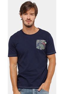 Camiseta Timberland Pocket Maranta Masculina - Masculino
