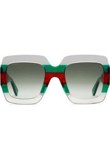 Gucci Eyewear Óculos De Sol Quadrado - Verde