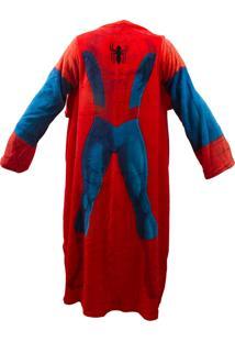 Cobertor Com Mangas Para Quarto Infantil Zonacriativa Azul E Vermelho