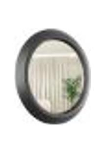 Espelho Decorativo Call Preto 60 Cm Redondo Preto, 60 Cm
