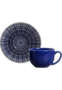 Xícara De Chá Coup Fuji Cerâmica 6 Peças Porto Brasil