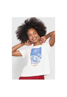 Camiseta Cantão The Sea Off-White