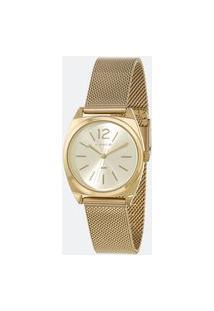 Kit Relógio Feminino Lince Lrgh121L-Kx28C2Kx Analógico 5Atm + Conjunto Semijóia | Lince | Champagne | U
