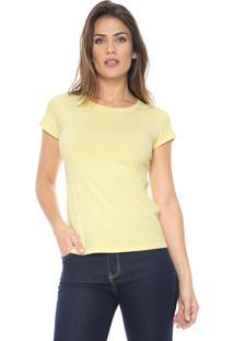 Camiseta Polo Wear Básica Amarela