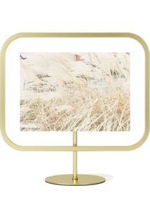 Porta Retrato Infinity Sqround 10X15 Cm Dourado Umbra