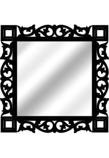 Espelho De Parede 14881P Preto 70X70 Art Shop