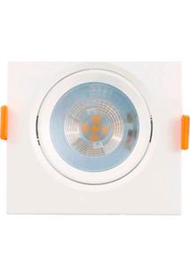 Spot De Embutir Quadrado Branco 5W - Lm304 - Luminatti - Luminatti