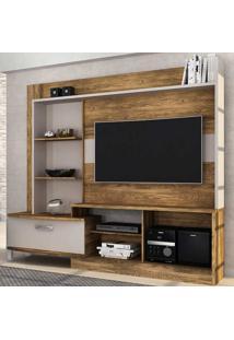 """Estante Home Para Tv De Até 55"""" Polegadas New Lavínia - Colibri - Canela Rústico / Dunas"""