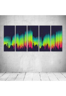Quadro Decorativo - Aurora - Composto De 5 Quadros - Multicolorido - Dafiti