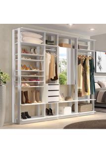 Módulo Closet Com Cabideiro 2 Prateleiras Clothes Be Mobiliário Branco