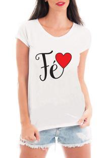 Camiseta Criativa Urbana Fé Branca