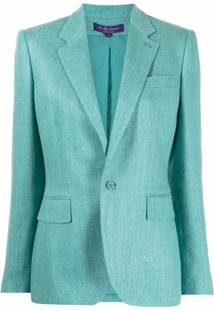 Ralph Lauren Collection Jada Single-Breasted Blazer - Azul