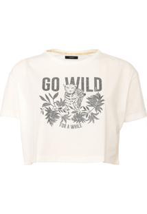 Blusa Cropped Sommer Go Wild Branca