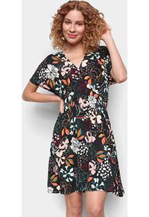 Vestido Cantão Evasê Curto Dakota Floral - Feminino-Estampado